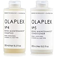 Olaplex No 5 Bond Maintenance Conditioner 250ml/8.5oz No 4 Bond Maintenance Shampoo 250ml/8.5oz Free No.3 Sample .5 oz