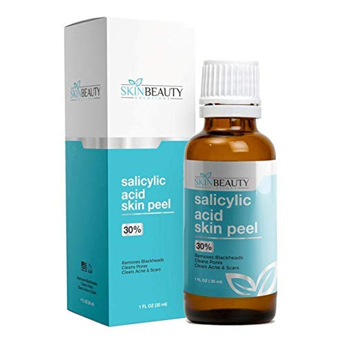 SALICYLIC Acid 30% Chemical Peel with Beta Hydroxy BHA For Rosacea, Blackheads, Whiteheads, Clogged Pores, Seborrheic Keratosis, Wart Remover, Dandruff, Bumpy Oily Acne Skin (1 oz / 30 ml)