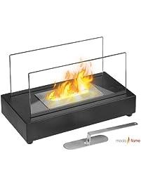 GF301801 Vigo Table Top Ethanol Fireplace   Black