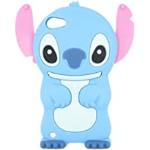 Ipod Touch 5 case, Ipod Touch 5 Generation Cover,WGOOD 3D Cartoon Alien Dog Blue Soft Silicone Rubber Protection Skin Case Cover for Ipod Touch 5 5th Generation