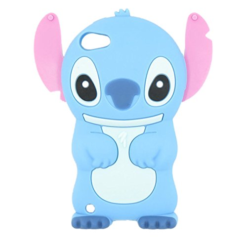 Ipod Touch 6 case, Ipod Touch 6 Generation Cover,WGOOD 3D Cartoon Alien Dog Blue Soft Silicone Rubber Protection Skin Case Cover for Apple Ipod Touch 6