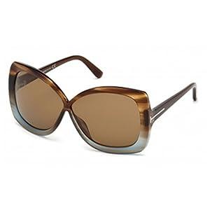 Tom Ford Calgary FT0227 Sunglasses-86J Tortoise Blue (Brown Lens)-63mm