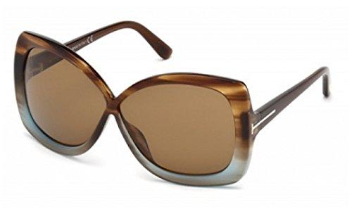 Tom Ford Calgary FT0227 Sunglasses-86J Tortoise Blue (Brown - Sunglasses Calgary