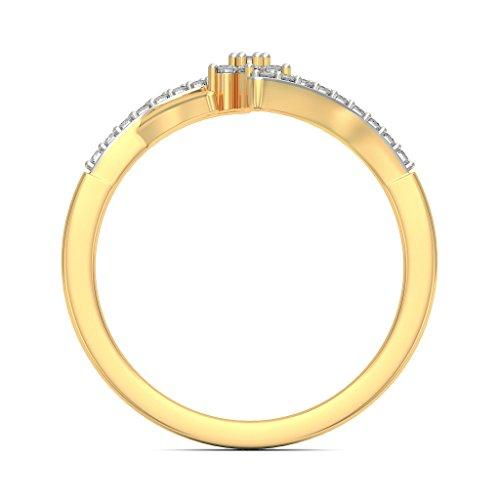 14K Or jaune, 0.16carat Diamant Blanc (IJ | SI) en diamant