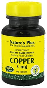 Nature's Plus - Copper, 3 mg, 90 tablets
