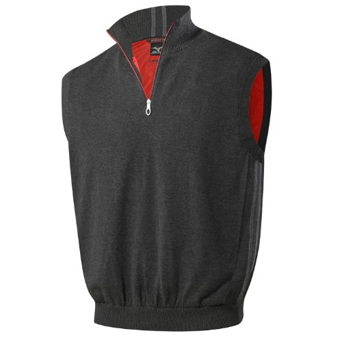 Mizuno Flex Vest (Black, MEDIUM) Windlite Zip Neck Sleeveless NEW