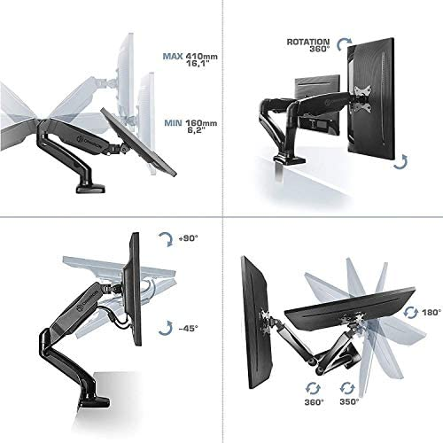 ONKRON G160 houder voor 2 monitoren, 13 A, 27 inch, zwart