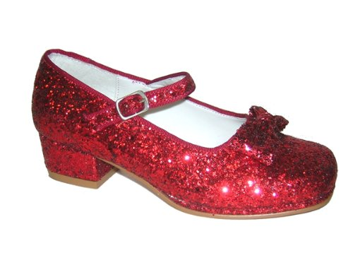 [Dorothy's Ruby Red Shoes (Child Size 10)] (Toddler Red Glitter Shoes)