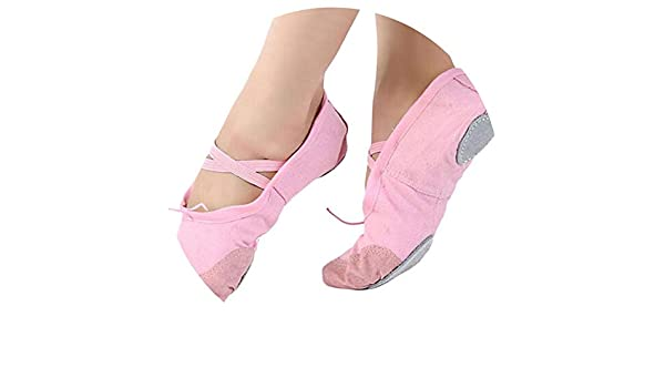 Amazon.com | Adult Canvas et Dance Shoes Woman Slippers Pointe Slippers Women Size 36~40, Pink, 6, | Shoes