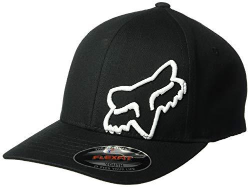 Fox Flex Fit - Fox Boys' Big Youth Flex 45 Flexfit HAT, Black/White, OS