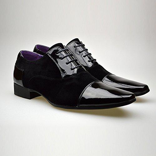 hombre negro para de Zapatos negro cordones ClassyDude pOw0Tqn