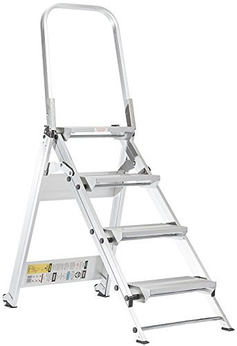 Xtend & Climb 4 ft Aluminum Folding Safety Step Ladder with 375 lb. Load Capacity