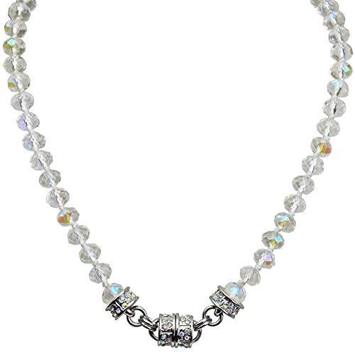 Kirks Folly Crystal Goddess Magnetic Necklace (Silvertone)