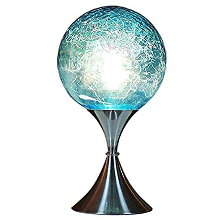 MUTANG Bola de Cristal Azul Lámpara de Mesa Toque Simple Inducción ...