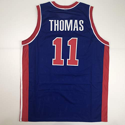 Unsigned Isiah Thomas Detroit Blue Custom Stitched Basketball Jersey Size Men's XL New No - Pistons Custom