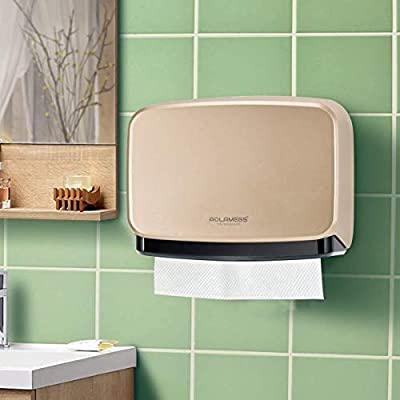 Aolamegs Paper Towel Dispenser Wall Mount Gold,Multifold//C-Fold Paper Towel Dispenser,Tissue Dispenser for Bathroom,Kitchen,Business