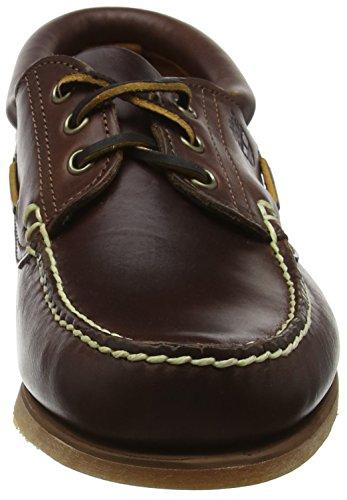 Timberland FTM 76015 - Náuticos con cordones y borde acolchado para hombre Marrón (Brown Smooth)