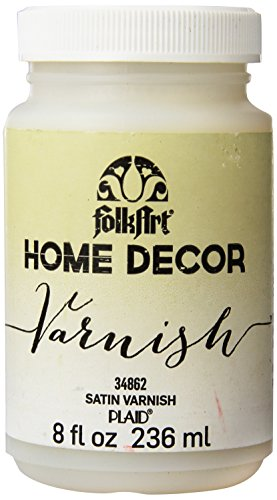 (FolkArt 34862 Home Decor Chalk Furniture & Craft Paint in Assorted Colors, 8 Ounce, Satin Varnish)