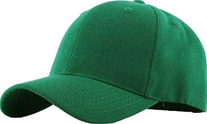 Loop Plain Baseball Cap Solid Color Blank Curved Visor Hat Adjustable Army Mens