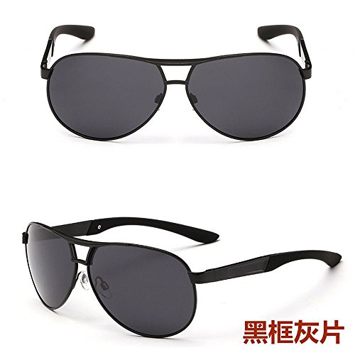 Men's Polarized Aluminum Sunglasses Driving Outdoor Sports Eyewear Glasses UV400 (Black + - Kong Hong Sunglasses