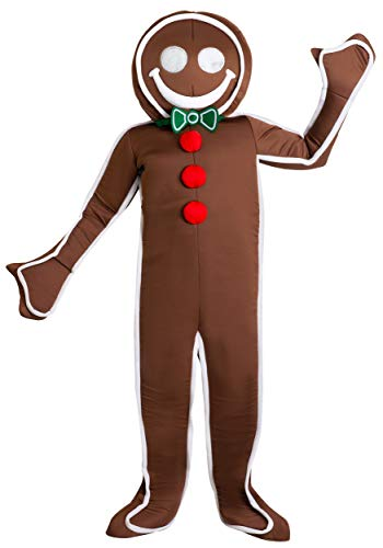 Gingerbread Costume For Adults (Men's Iced Gingerbread Man Costume X-Large)