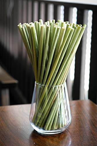 (Grass Straws: A Better Alternative To Rice Straw, Wheat Straws Or Paper Straws- Size 20cm /7.9in (100pcs/pack).)