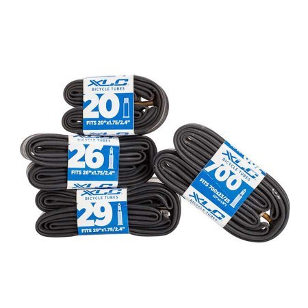 Bike Tire Inner Tubes Pack of 2 - Schrader Valve - Size 700X35/48C (27X1-3/8) - Qbp Bicycle