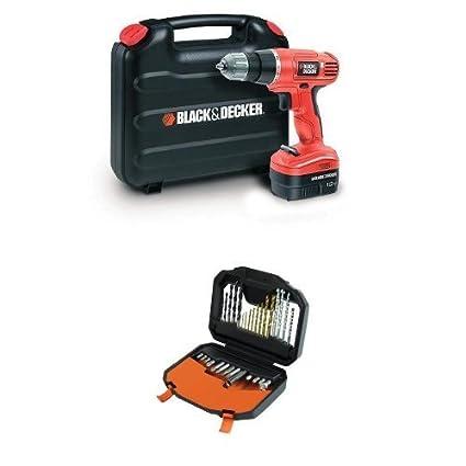 Black & Decker EPC12CAK-GB - Taladro atornillador (12 volts) + Black ...