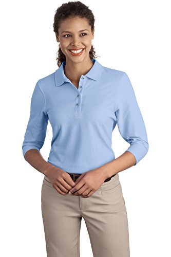 Port Authority Ladies Sleeveless - Port Authority Women's Ladies Silk Touch M Light Blue