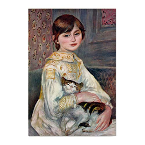 AbundanceHomeDesign Dit Aussi L'Enfant Au Ahat by Augste Renoir/Printed on Premium Fabric Poster/Tapestry Wall Hanging for Wall Decor/Famous Painting Art Collection/S M L Sizes - Small 17.32