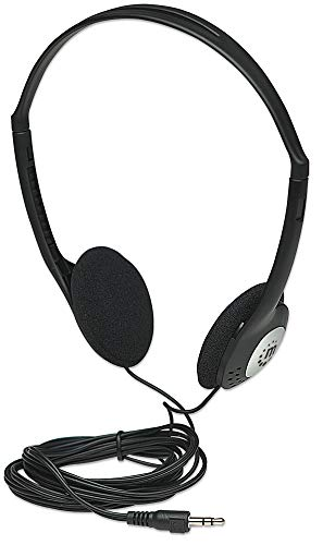 Manhattan 177481 Stereo Headphones with Adjustable Headband Black