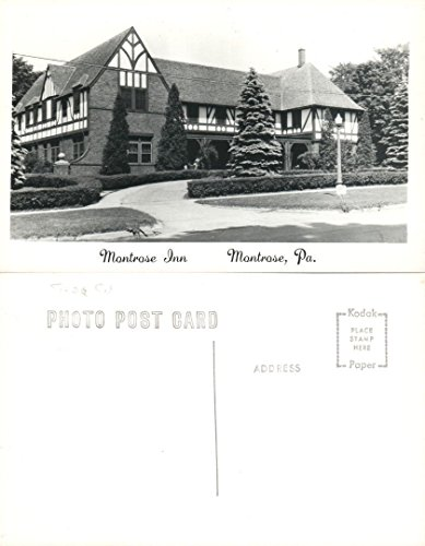 MONTROSE INN PA VINTAGE RPPC REAL PHOTO POSTCARD hotel
