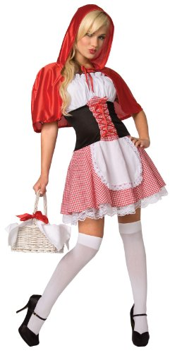 [Palamon Women's Riding Hood Adult Costume Small 6 8 Red] (Fantastic 4 Costume Uk)