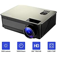 PONER SAUND M5 Full HD 1080p 3800-Lumens Home Theater Projector