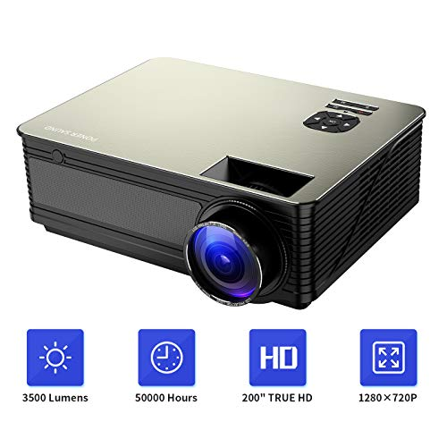 Electronics : Home Theater Projector HD 1080P Supported, PONER SAUND M5 3500 Lumens Full HD Home Projector 200'' LCD Video Projector Built-in Speakers Support Ipad, Fire TV Stick, PS4, HDMI, VGA, TF, USB