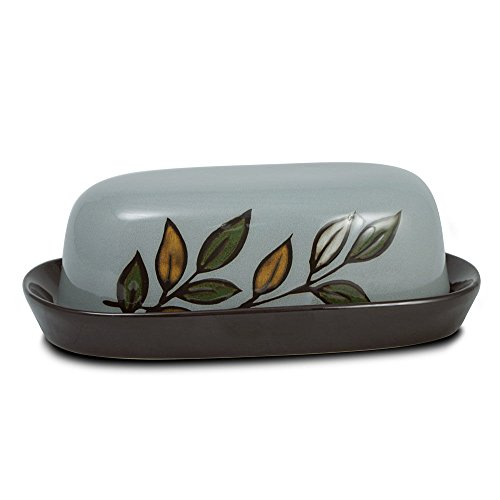 Pfaltzgraff Rustic Leaves Covered Butter Dish (Small Dish Leaf)