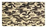 Funky Camo Desert Beige Brown Multi - 5'x8' Custom Stainmaster Premium Nylon Carpet Area Rug ~ Bound Finished Edges