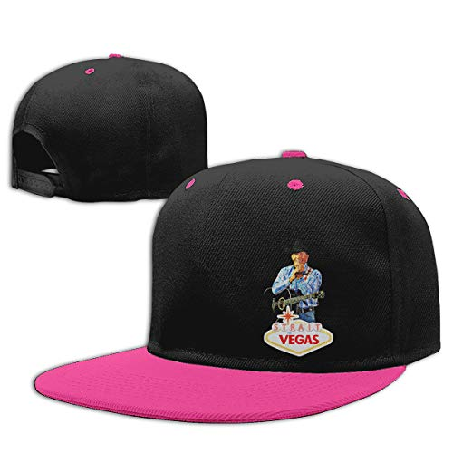 LEILEer George Strait to LAS Vegas Unisex Contrast Hip Hop Baseball Cap Pink]()