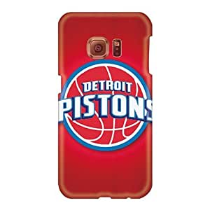 Scratch Protection Cell-phone Hard Covers For Samsung Galaxy S6 With Allow Personal Design High Resolution Detroit Pistons Pattern MarcClements