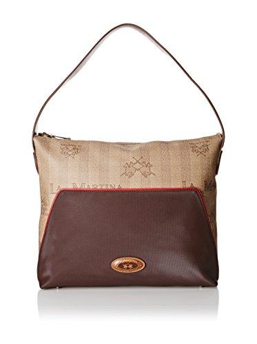 Borsa Donna Hobo Bag Lady fw15 004 Marrone/Rosso