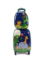 Anab Kids Carry On Spinner Luggage, Hard Shell Travel Upright Rolling Suitcase for Boys Children