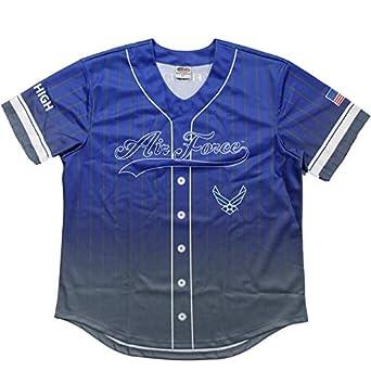 san francisco 45322 da2be Amazon.com: JWM Men's Sublimated Baseball Jersey US Air ...