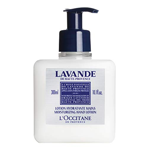 - L'Occitane Lavender Moisturizing Hand Lotion Enriched with Shea Butter and Relaxing Lavender Essential Oil, 10.1 fl. oz.