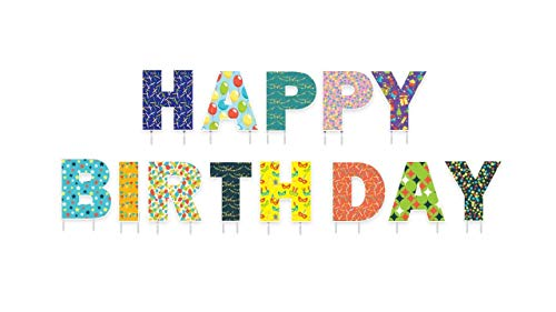 Happy Birthday Yard Sign - 13 inch Large Letters - Corrugated Plastic Birthday Yard Signs With Stakes - Happy Birthday Decorations Yard Cards - Waterproof Happy Birthday Sign -