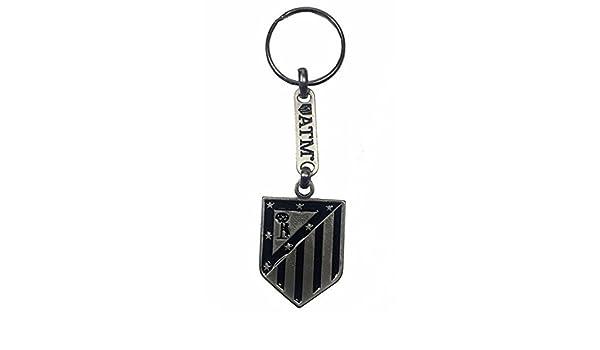 Llavero Club Atlético de Madrid Plateado y Negro Producto ...