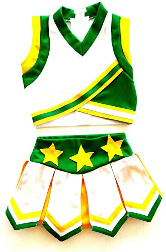Little Girls' Cheerleader Cheerleading Outfit Uniform Costume Cosplay White/Green/Yellow (S / 2-5)]()