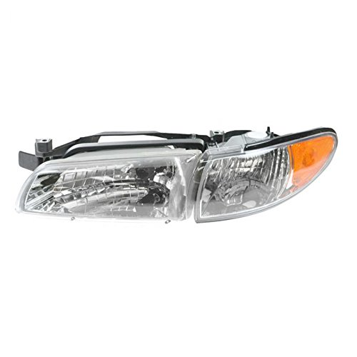 Headlight Headlamp Driver Side Left LH for 97-03 Pontiac Grand (Grand Am Headlight Lh Driver)
