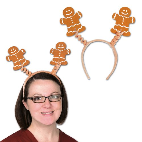 Beistle  Gingerbread Man Boppers Party Hat -