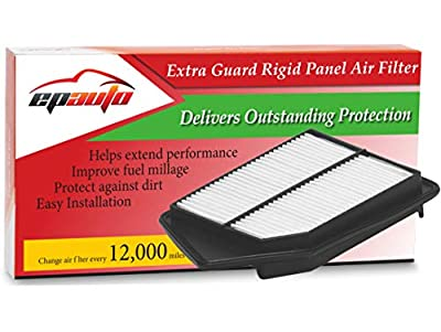 EPAuto GP476 GP476 (CA11476) Extra Guard Rigid Panel Air Filter Replacement for Honda Accord L4 Gas (2013-2017), TLX L4 (2015-2017)
