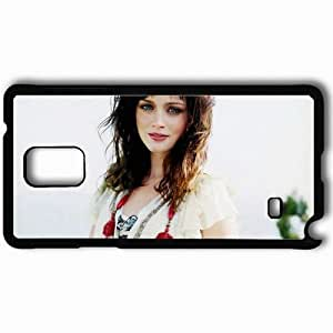 Personalized Samsung Note 4 Cell phone Case/Cover Skin Alexis Bledel Black
